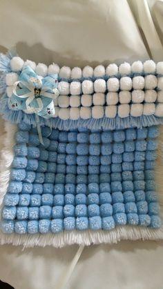 Boys Pom pom blanket