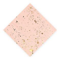 Gold Splash Cocktail Napkins - Small