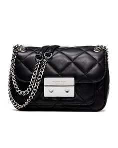Party-ready accessory. MICHAEL Michael Kors Small Sloan Quilted Shoulder Bag