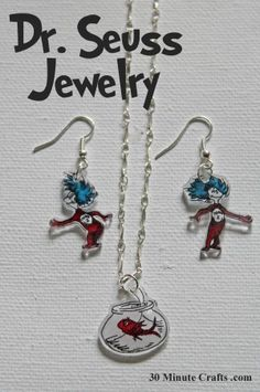 Dr. Suess Jewelry - Great for teacher gift too!