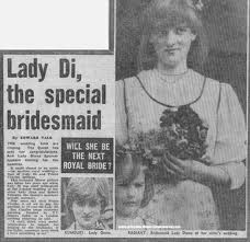 Lady Diana Spencer, the special bridesmaid!!