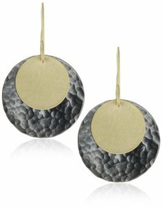 Renee Garvey 10k Gold and Oxidized Sterling Disc Earrings Renee Garvey. $41.99. All hand-cut, handsome. Made in USA. Hand made in the United States. 10k yellow gold and sterling silver discs are all hand-cut and hammered