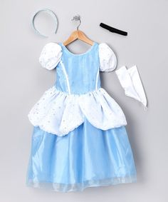 Take a look at this Blue Princess Dress-Up Set - Infant, Toddler & Girls on zulily today!