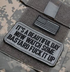 Watch out for cheap import copies. Funny Patches, Cool Patches, Pin And Patches, Iron On Patches, Velcro Patches, Airsoft, Tactical Patches, Tactical Clothing, Morale Patch