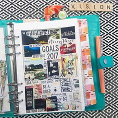 theresetgirl: Day 1: My Vision Board. After making a board I LOVED for 2017, I decided to photograph it, resize it and print it for my Aqua @carpediemplanners. I am crazy about this!