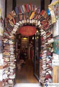 Book shop in Lyon, France