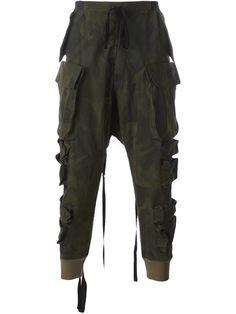 UNRAVEL camouflage print parachute pants. #unravel #cloth #pants