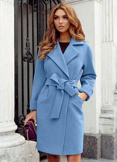 Palton stofa Dolly Bleu • Chic Diva  realizat din stofa cu 20% lana - tine de cald are un cordon in talie- iti evidentiaza talia 90 cm lungime-casual il poti purta la orice Orice, Blue Wool, Wool Coat, Wrap Dress, Superhero, Casual, Dresses, Fashion, Vestidos
