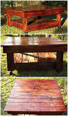 Pallet coffee table #CoffeeTable, #Pallet, #Upcycled