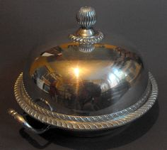 B10254 £SOLD (March 2015) Walker and Hall silver plated muffin dish, cover and insert
