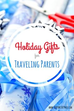 Need gift ideas for traveling parents? From electronics to luggage to travel books, these gifts will bit a hit with all parents who travel with kids. Via @tripswithtykes