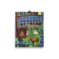 Moose in the City 3 - Photo paper poster Moose, Advent Calendar, City, Holiday Decor, Paper, Advent Calenders, Mousse, Cities, Elk