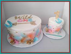 Wild One boho themed birthday First Birthday Theme Girl, Girl Birthday Cupcakes, Wild One Birthday Party, Birthday Cake Smash, First Birthday Cakes, Baby First Birthday, 1st Birthday Parties, Birthday Ideas, Smash Cake Girl