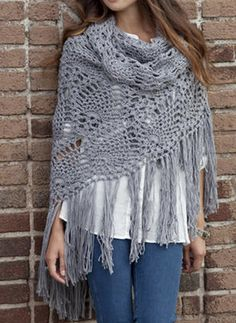Crochet Shawl Free Pattern                                                                                                                                                      More
