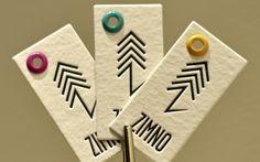 Eiquetas de roupa ----- Clothing labels. by Letter & Press, via Behance