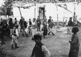 Boys and girls in costume, Neprosteno (near Tetovo), Macedonia (Southern Serbia, former...