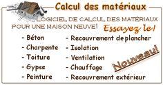 calcul des matériaux de construction