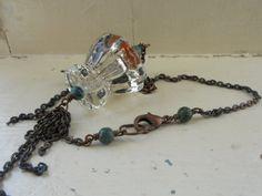 Super unique knob necklace by SunshinesPush on Etsy, $36.00