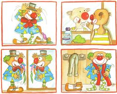 images séquentielles Sequencing Pictures, Sequencing Cards, Story Sequencing, Sequencing Activities, Speech Therapy Activities, Clown Cirque, Clown Crafts, 4 Image, Writing Folders