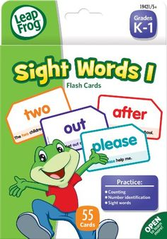 Leapfrog Sight Words I Flash Cards For Grades K-1, Pack Of 56 (19421), 2015 Amazon Top Rated Flash Cards #OfficeProduct