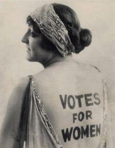 Votes for women.