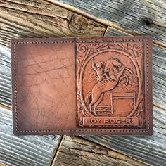 Your place to buy and sell all things handmade Brown Leather Wallet, Roy Rogers, Happy Trails, Cards, Etsy, Collection, Friends, Products, Amigos