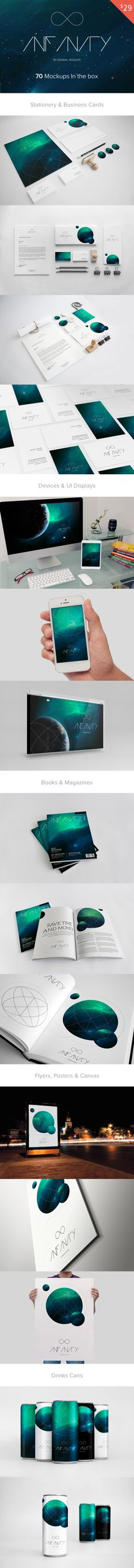 Infinity Mockups Bundle -business card, mock-ups, id mockups
