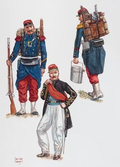 Military Suit, Military Uniforms, Independence War, Osprey Publishing, French Foreign Legion, Crimean War, Age Of Empires, Army Uniform, Second Empire