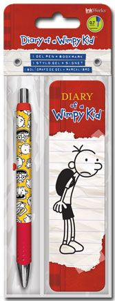 Diary of a Wimpy Kid - Gel Pen + Bookmark Packs