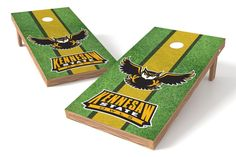 Kennesaw State Owls Cornhole Board Set - Field (w/Bluetooth Speakers)
