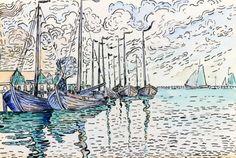 Volendam, Fishing Boats, Paul Signac