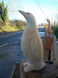 Chainsaw Carved Penguin