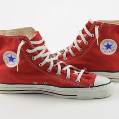 51e9353076bc Converse Chuck Taylor All-Stars Shoes 13.5 Vintage NWOT Red USA High Top  Sneaker