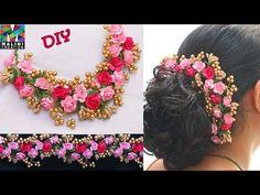 Ideas handmade hair accessories diy for 2020 Flower Hair Accessories, Handmade Hair Accessories, Wedding Hair Accessories, Handmade Jewelry, Flower Hair Clips, Flowers In Hair, Diy Bridal Hair, Flower Jewellery For Haldi, Flower Jewelry