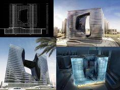 """""""OPUS""""   Dubai Proyecto que refleja una Arquitectura escultural que resuelve perfectamente los requerimientos fu..."""