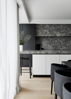 Kitchen Dinning, Home Decor Kitchen, Kitchen Design, Penthouse Apartment, Apartment Living, Backyard Cottage, Australian Homes, Clever Design, Open Plan Living