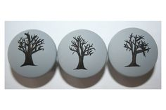 Gray with Black Tree Knobs