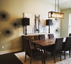 Gorgeous dining room incorporating HARP & FINIAL designs.