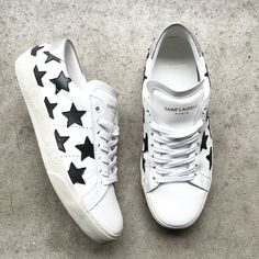Saint Laurent Star Sneakers. ❤️ via OVRSLO
