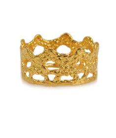 Gold Delicate Lace Band - Medium  #jewelry #jewellery #lace #ring #bridal #gold