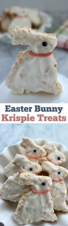 These Easter Bunny Krispie Treats will make for a great dessert, Easter basket addition or snack this holiday season. Super inexpensive and SUPER easy!