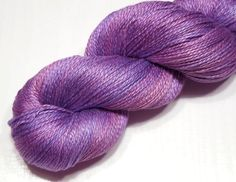 Mulberry silk yarn fingering sport weight by VioletLynxDyeworks, $33.50