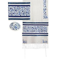 """Size: 20"""" x 75"""" / 50 cm x 190 cmWe are proud to present an exciting line of Artistic Judaica by Yair Emanuel.This gorgeous tallit is made from"""