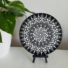 Mandala Hand-Painted Wood Art Piece