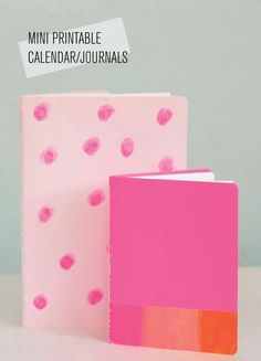 DIY mini-printable-calendar and journals