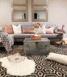 Crazy Chic Design: Modern Boho Basement