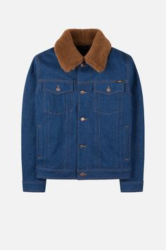 denim jacket with shearling collar - AMI Paris Swaggy Outfits, Winter 2017, Fall Winter, Disney Renaissance, Outfit Grid, Denim, Stylish, Jeans, Jackets