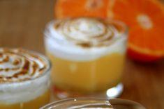 Tarte à la mandarine meringuée en verrine Macaron, Pudding, Cream Pie, Italian Meringue, Noel, Puddings