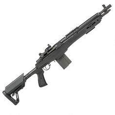 """Springfield M1A SOCOM 16 CQB, 7.62 NATO/.308 Win. with 16.25"""" Barrel and Vortex Venom Red Dot Sight. Nearly 10 inches shorter than the M1A Standard Model, the Springfield M1A SOCOM 16 CQB is a modernized descendant of the distinguished M14 and M1A that is designed for serious defensive use. Compact and fast handling indoors or out, this rifle is equipped with a five-position CQB stock with adjustable cheek piece, a ghost ring aperture rear sight with MOA adjustment."""