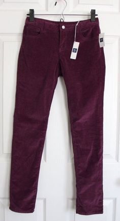 GapKids Purple Corduroy Sequin Girl's Size 12 Pants Adjustable Waist NEW Bling #GapKids #CasualPants #Everyday